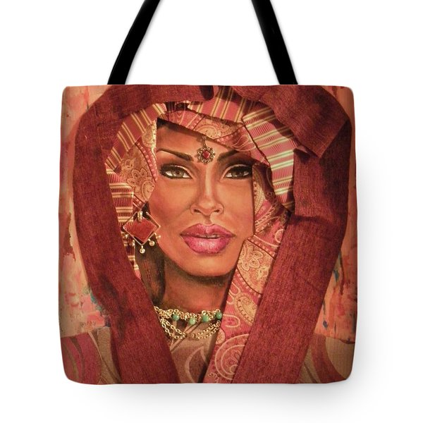 Tote Bag featuring the painting Aglow by Alga Washington