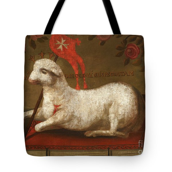 Agnus Dei With Banner Of The Order Of St John  Tote Bag