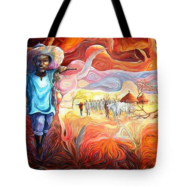 Agoi - The Sheperd Boy Tote Bag by Bankole Abe