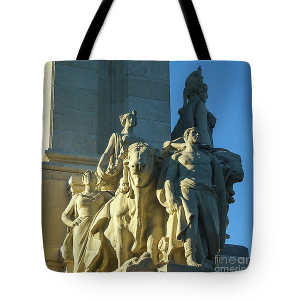 Tote Bag featuring the photograph Agriculture Allegorie Monument To The Constitution Of 1812 Cadiz Spain by Pablo Avanzini