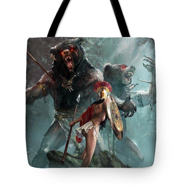 Agrius And Oreius Tote Bag