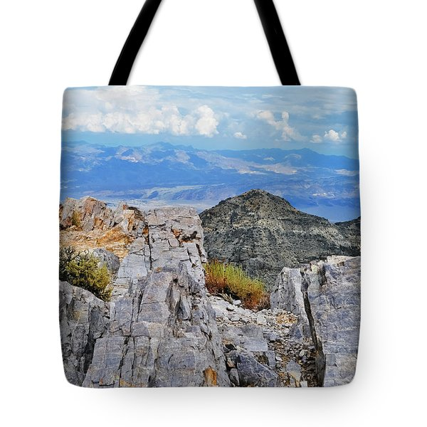 Tote Bag featuring the photograph Aguereberry Point Rocks by Kyle Hanson