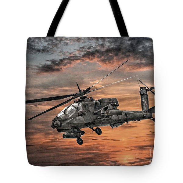 Ah-64 Apache Attack Helicopter Tote Bag by Randy Steele