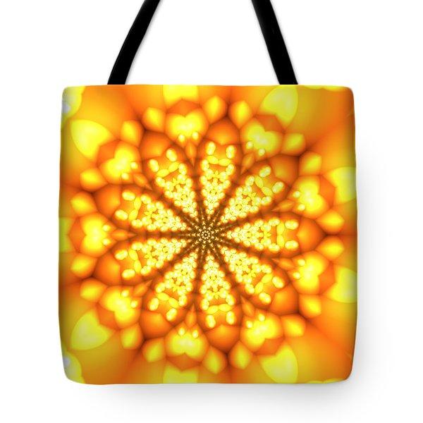 Tote Bag featuring the digital art Ahau 9 by Robert Thalmeier