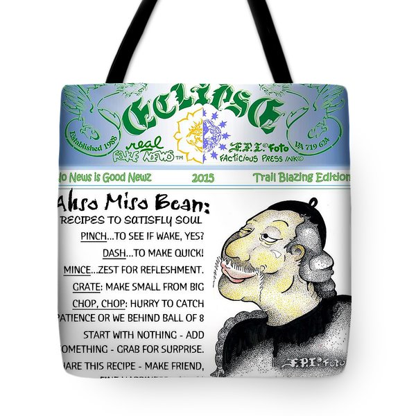 Real Fake News Recipe Column 1 Tote Bag