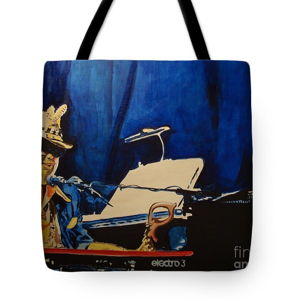 Tote Bag featuring the painting Aiko Aiko Asheville by Stuart Engel
