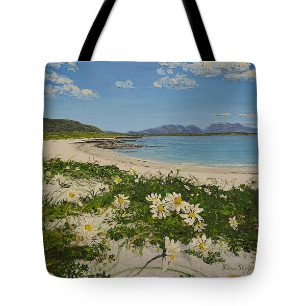 Aillebrack Beach Ballyconneelly Connemara Ireland Tote Bag by Diana Shephard