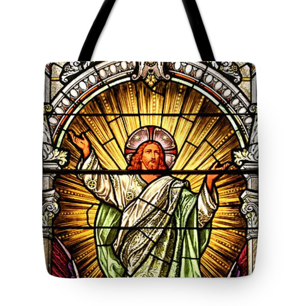 Tote Bag featuring the photograph Stained Glass Scene 10 Crop by Adam Jewell