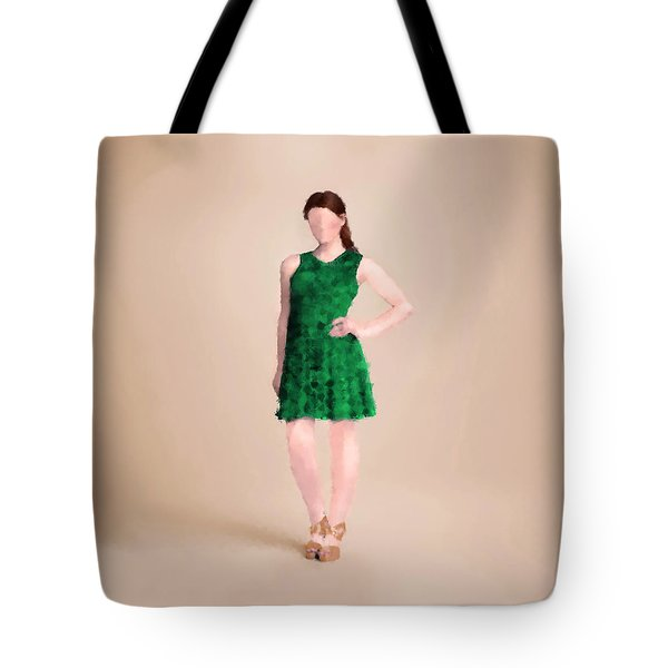 Tote Bag featuring the digital art Ainsley by Nancy Levan