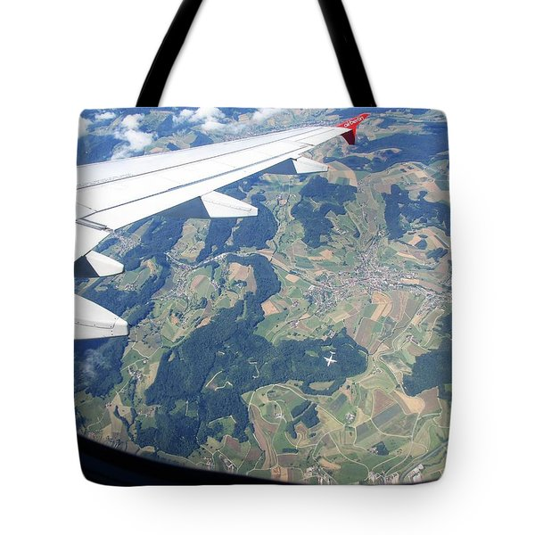 Air Berlin Over Switzerland Tote Bag