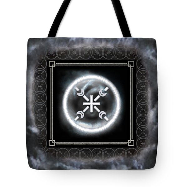 Tote Bag featuring the digital art Air Emblem Sigil by Shawn Dall