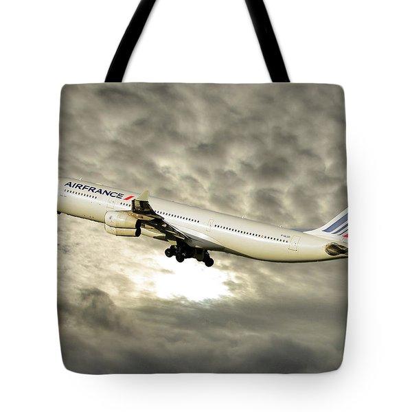 Air France Airbus A340-313 115 Tote Bag