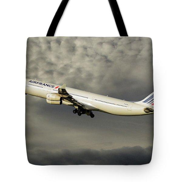 Air France Airbus A340-313 116 Tote Bag