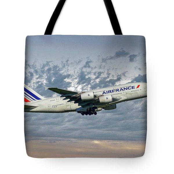Air France Airbus A380-861 113 Tote Bag