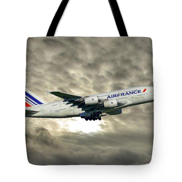 Air France Airbus A380-861 115 Tote Bag