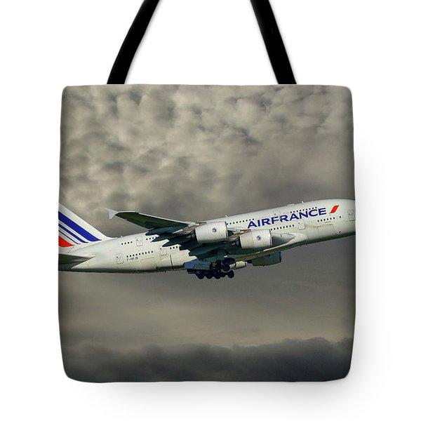 Air France Airbus A380-861 116 Tote Bag