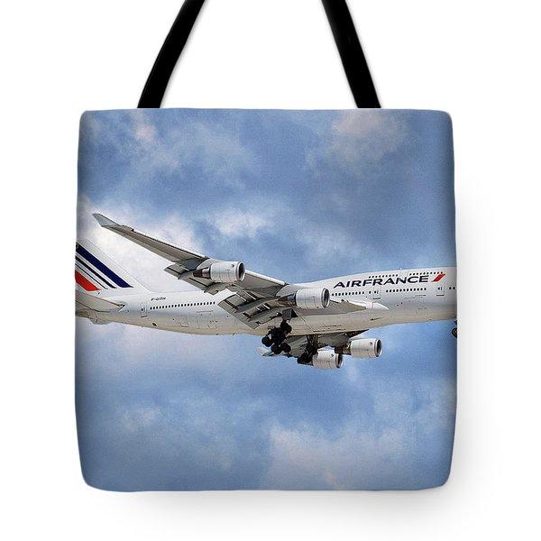 Air France Boeing 747-428 118 Tote Bag