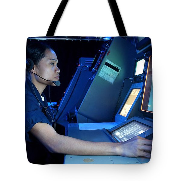 Air Traffic Controller Monitors Marine Tote Bag by Stocktrek Images