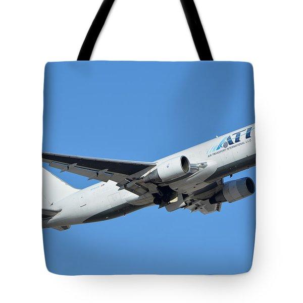 Air Transport International Boeing 767-232 N763cx Phoenix Sky Harbor January 19 2016  Tote Bag by Brian Lockett