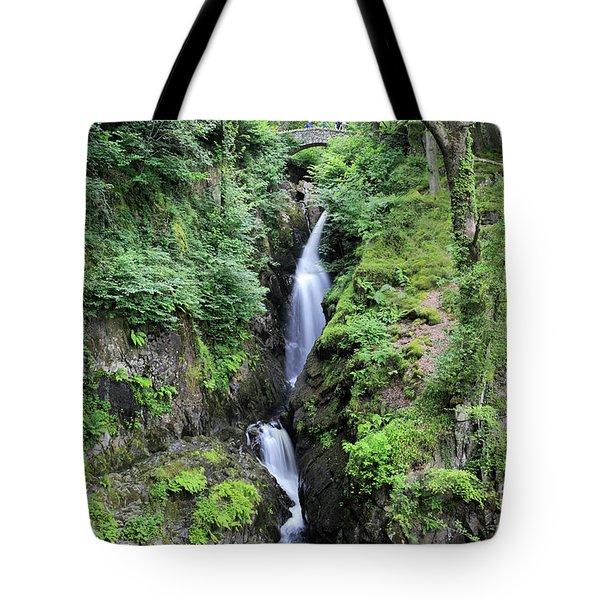 Aira Force Waterfall, Aira Beck, Ullswater, Lake District Tote Bag