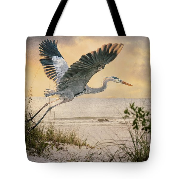 Tote Bag featuring the photograph Airborne by Brian Tarr