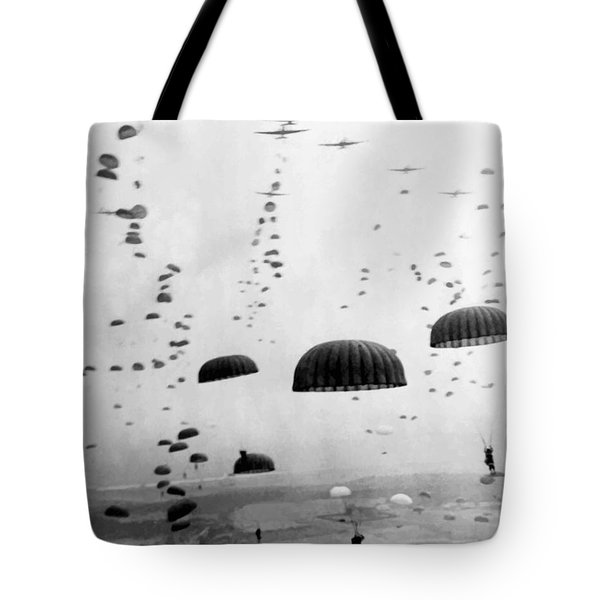 Airborne Mission During Ww2  Tote Bag by War Is Hell Store