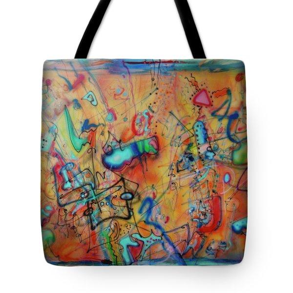 Digital Landscape, Airbrush 1 Tote Bag