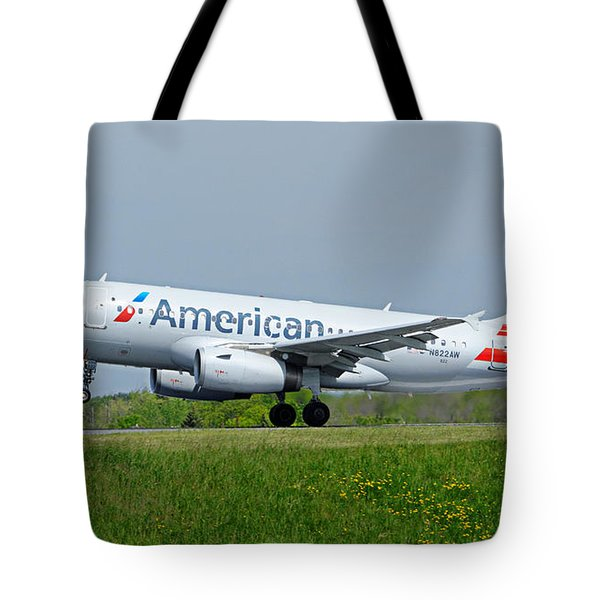 Airbus A319 Tote Bag by Guy Whiteley