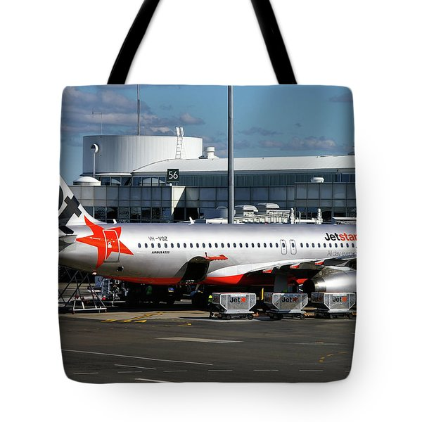 Airbus A320-232 Tote Bag by Tim Beach