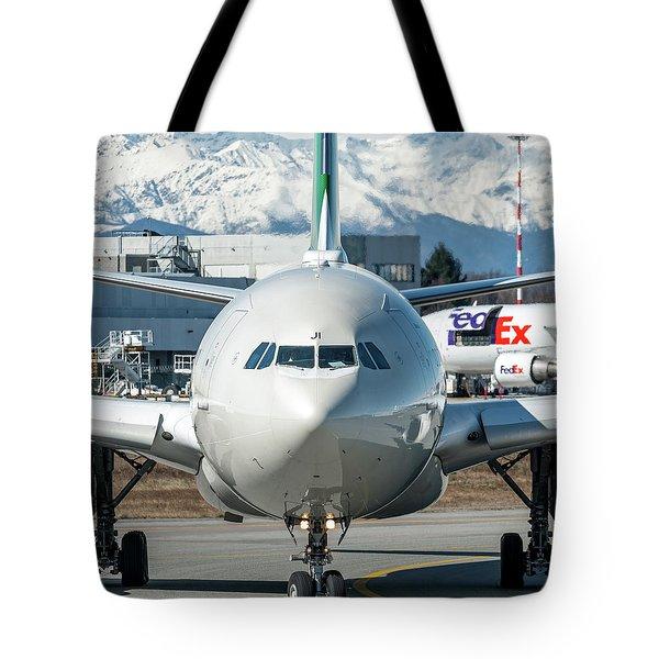 Airbus A330 Alitalia Nose Ei-eji Tote Bag