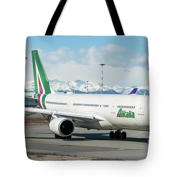 Airbus A330 Alitalia With New Livery  Tote Bag