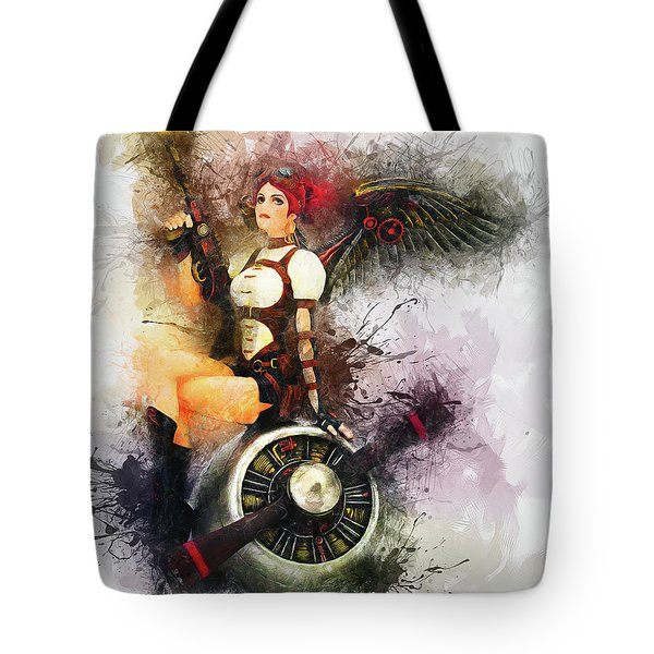 Aircraft Girl Tote Bag