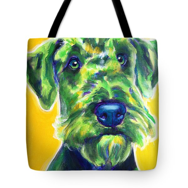 Airedale Terrier - Apple Green Tote Bag