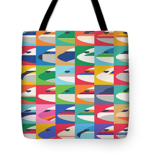 Airline Livery - Small Grid Tote Bag