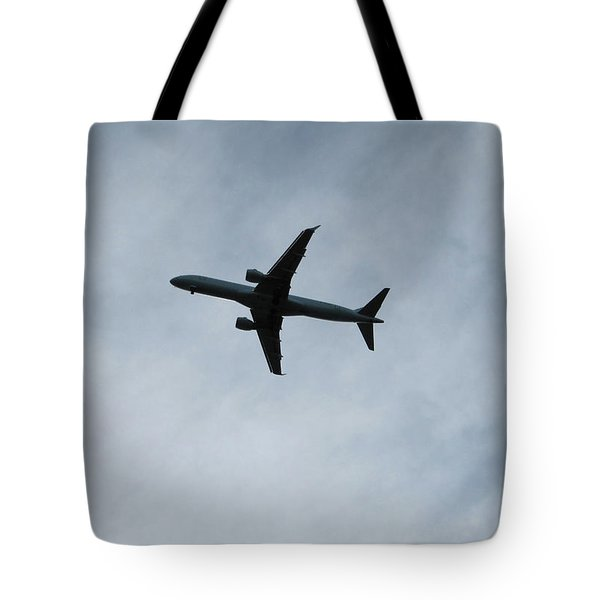 Airplane Silhouette Tote Bag
