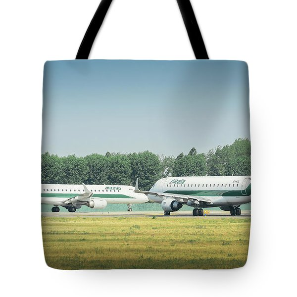 Airplanes That Appear To Be Kissing Tote Bag