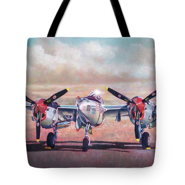 Airshow Lightning Tote Bag
