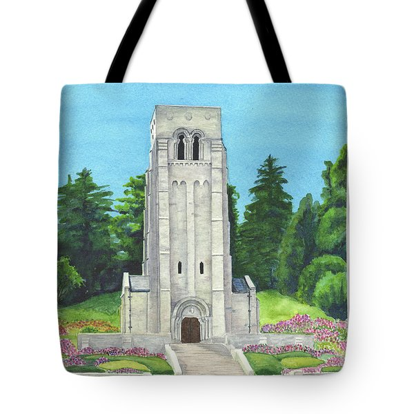 Tote Bag featuring the painting Aisne-marne American Cemetery by Betsy Hackett