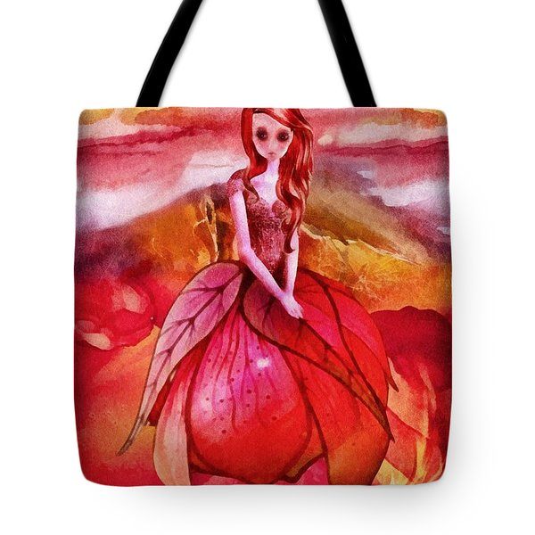 Tote Bag featuring the painting Aithne by Mo T