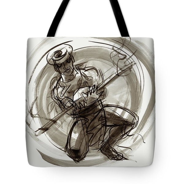 Aitutaki Fire Dancer Tote Bag