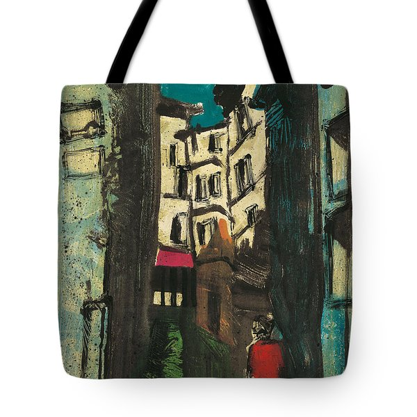 Tote Bag featuring the painting Aix En Provence Street by Martin Stankewitz