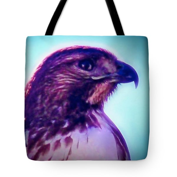 Ak-chin Red-tailed Hawk Portrait Tote Bag