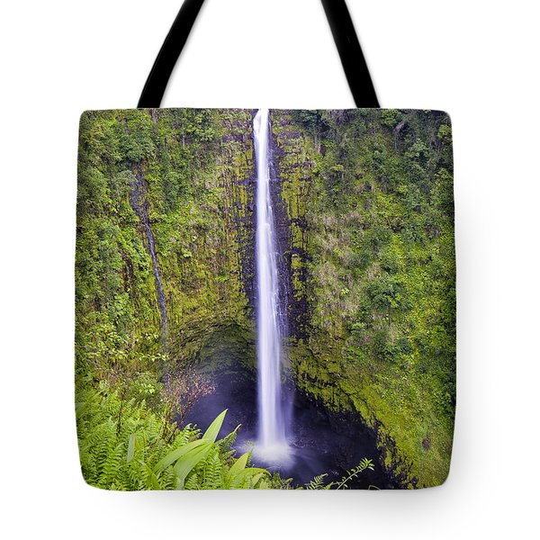 Tote Bag featuring the photograph 'akaka Falls by Windy Corduroy
