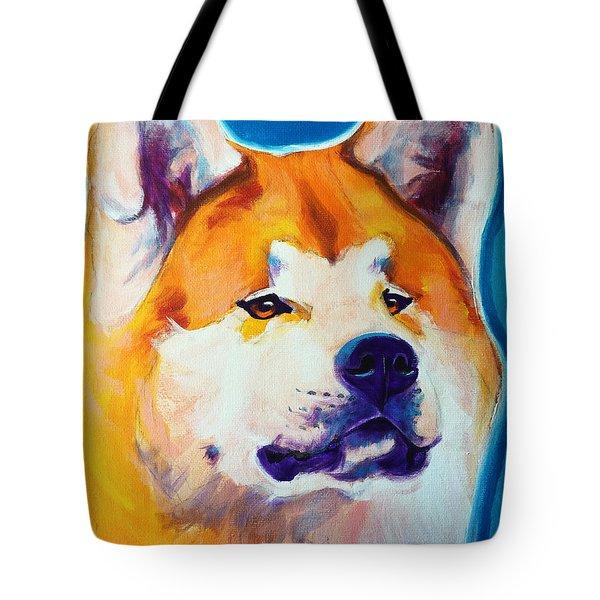 Akita - Apricot Tote Bag by Alicia VanNoy Call