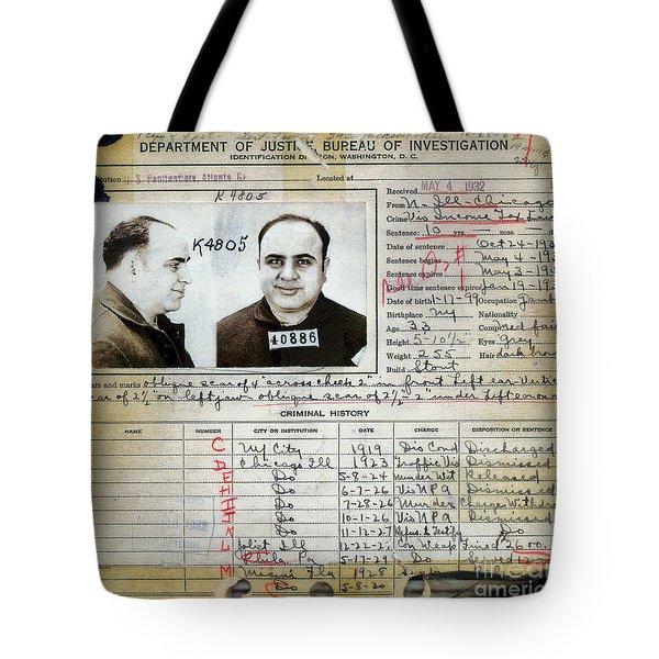 Al Capone Mugshot And Criminal History Tote Bag