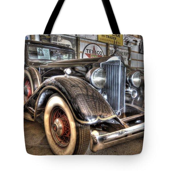 Al Capone's Packard Tote Bag by Nicholas  Grunas