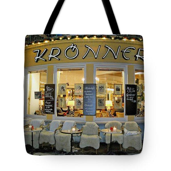 Al Fresco Dining Bavarian Style Tote Bag