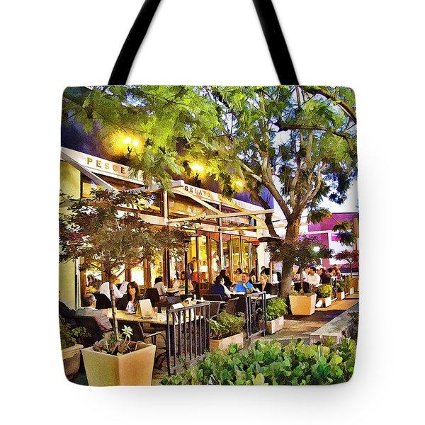 Tote Bag featuring the photograph Al Fresco Dining by Chuck Staley