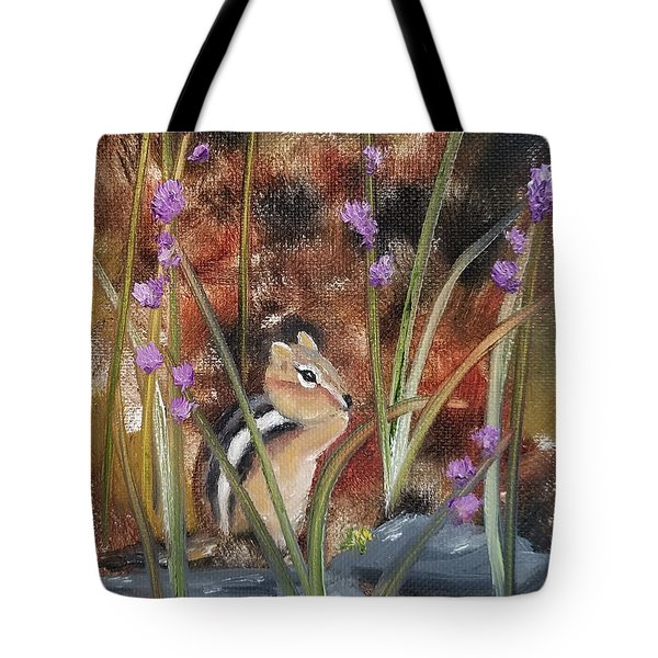 Tote Bag featuring the painting Al Fresco Dining With A View by Judith Rhue