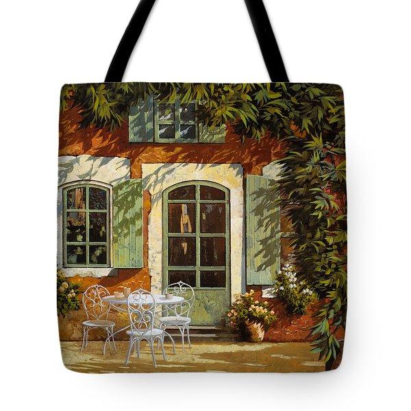 Al Fresco In Cortile Tote Bag
